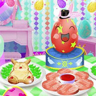 Игра Anna and the bunny are cooking (Анна и зайчик готовят)